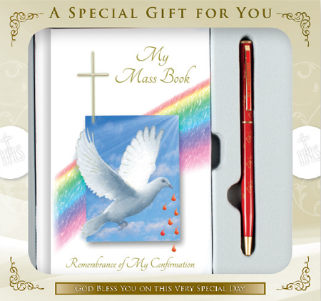 Confirmation Gift Set Symbolic Book Pen Saint Anthony Stores