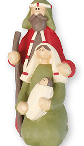 2.25 x 4.25 Inches 3 Figures Holy family Nativity Scene. Handpainted Resin.
