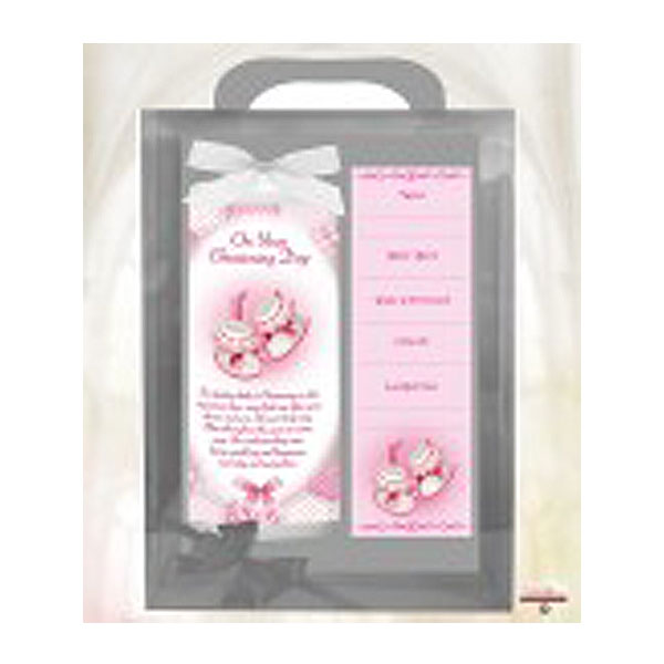 21315-ch6_-&100934_dots_ribbons&&booties_pink_6inch_christening_candle