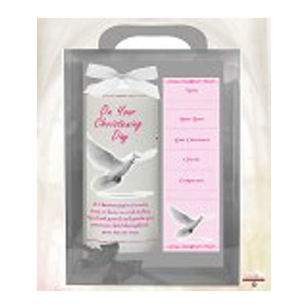 21555-ch6_-&999644_flying_dove&&cross_pink_6inch_christening_candle