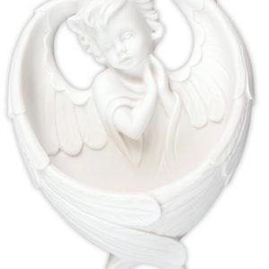 White Resin Font 6 inch Angel