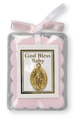 Baby Blessing With Miraculous Medal 1