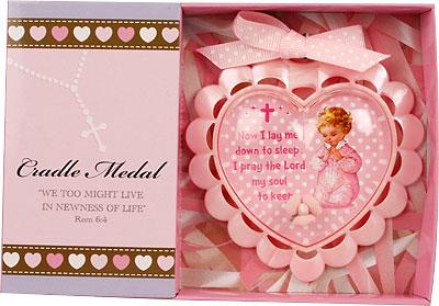 Plastic Baby Medallion Resin Motif Pink