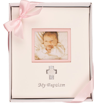 Embroidered Baptism Photo Album Girl 1