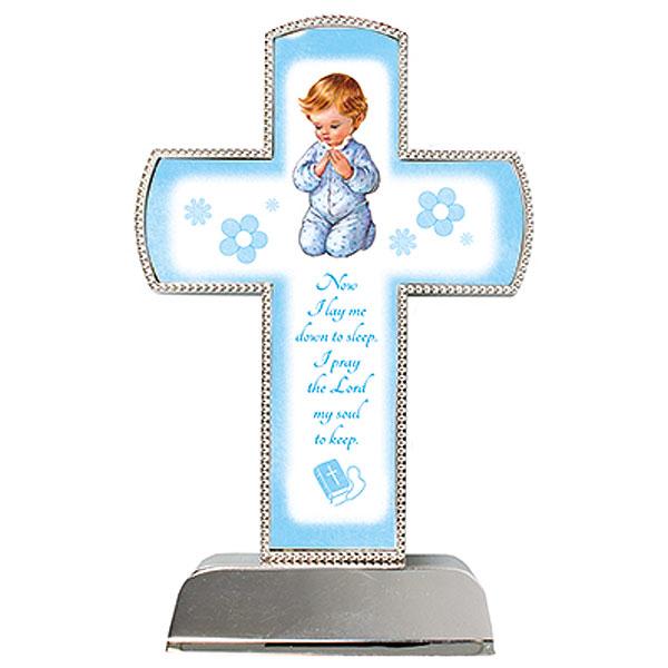 34641-Metal-Standing-Cross-Boy-Praying-6-inch