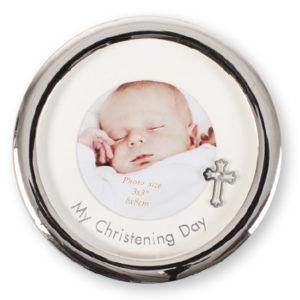 Christening Photo Frame Metal Silver Finish
