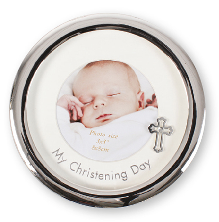 Christening Photo Frame Metal Silver Finish 1