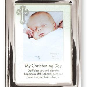 Christening Photo Frame Silver Finish