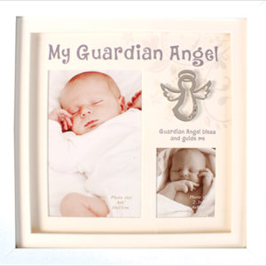 Christening Photo Frame Guardian Angel