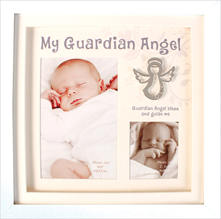 Christening Photo Frame Guardian Angel 1