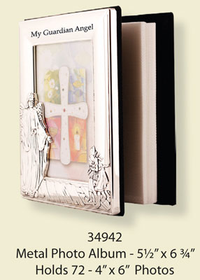 Guardian Angel Metal Photo Frame Album 1