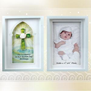Glass Photo Frame - Baptism