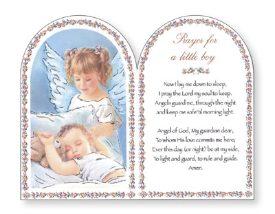 Wood Plaque Prayer For a Little Boy
