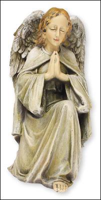 Resin Grave Statue 12 inch Praying Kneeling Angel