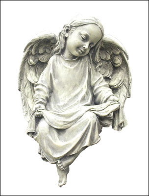 Resin Grave Statue- 10.5 inch Sitting Angel
