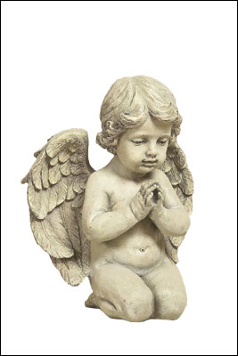 Resin Grave Statue - 9.75 inch Praying Angel