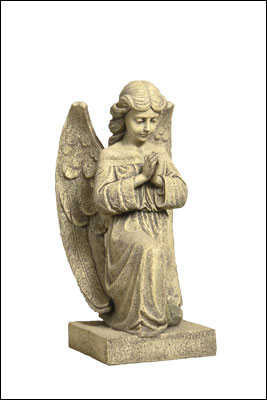 Resin Grave Statue - 16 inch Praying Angel