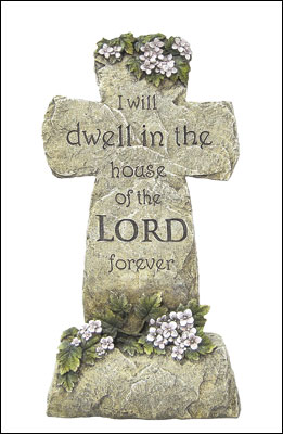 Resin Grave Statue - 16.5 inch Cross