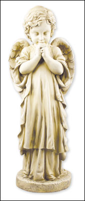 Resin Grave Statue 25 inch Praying Angel
