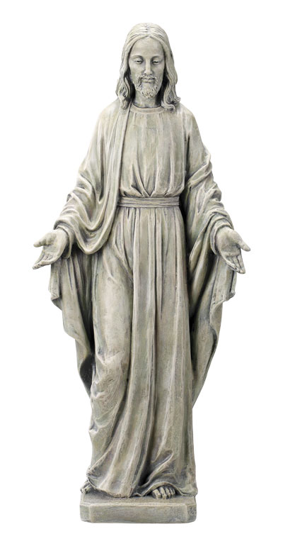 Resin Grave Statue - 20 inch Sacred Heart
