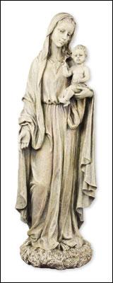 Resin Grave Statue 23 inch Madonna & Child