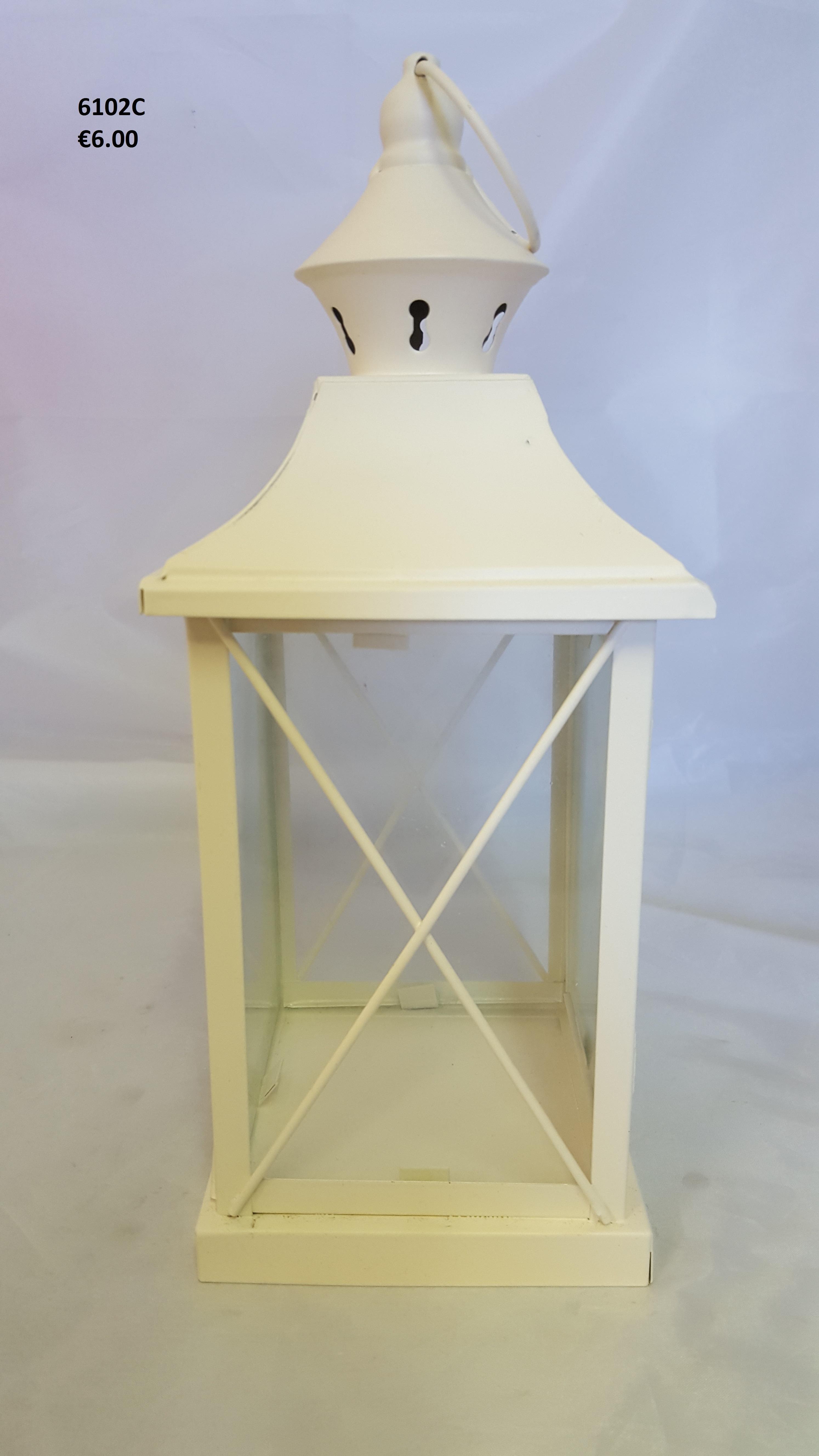 Cream Square Lantern