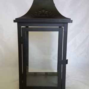 Black Lantern with Clear Glass