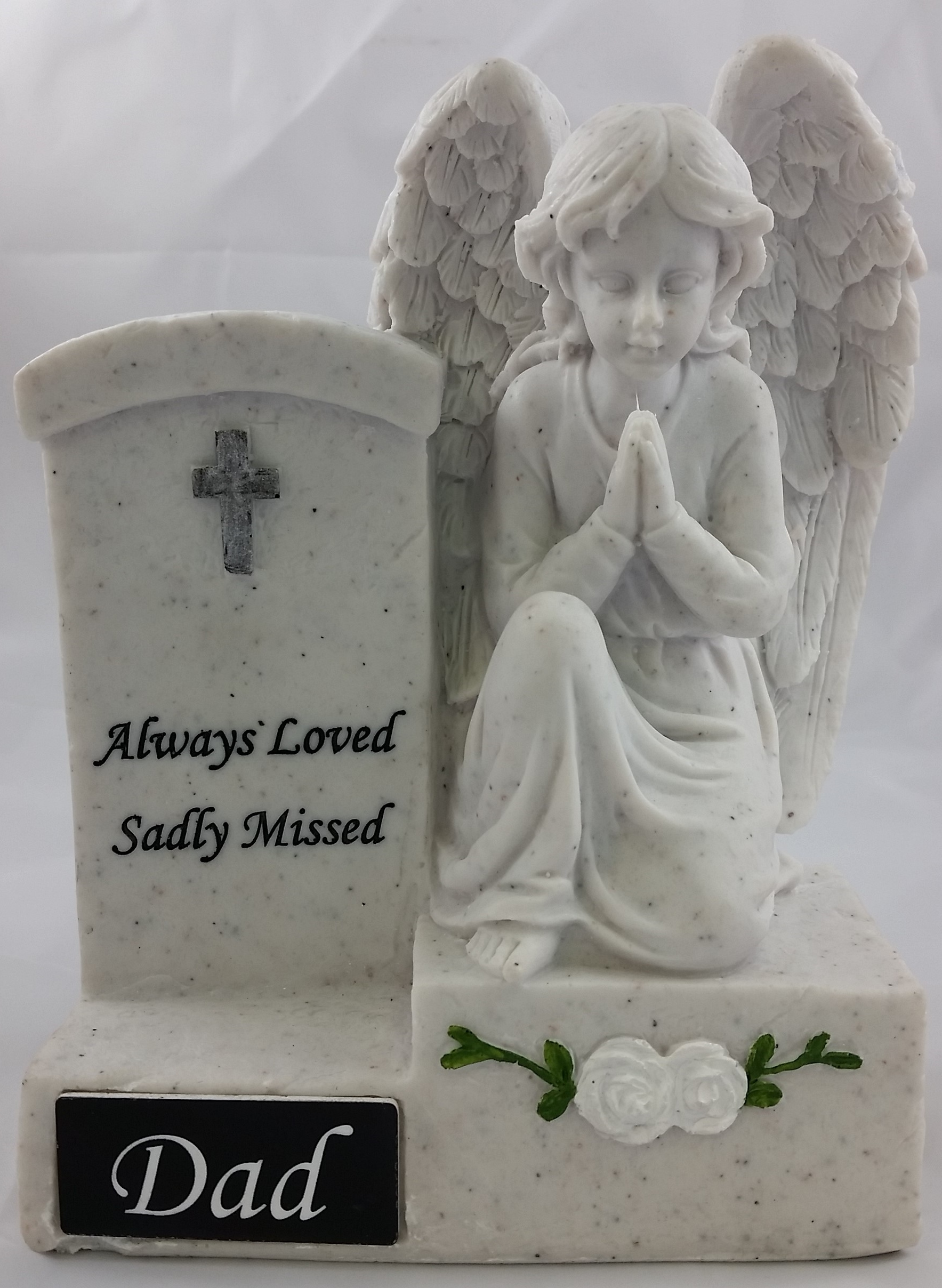 Angel Headstone with Subject Tag