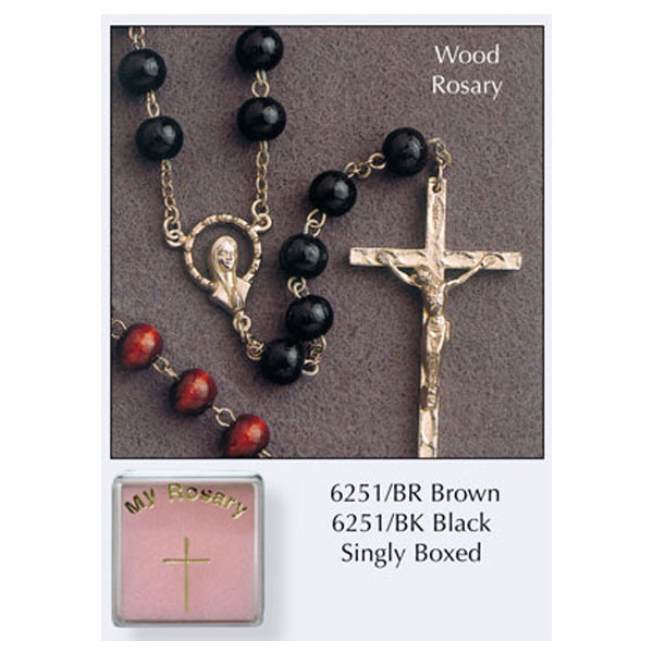 6251-BR-Wood-Rosary-Round-Bead-Brown