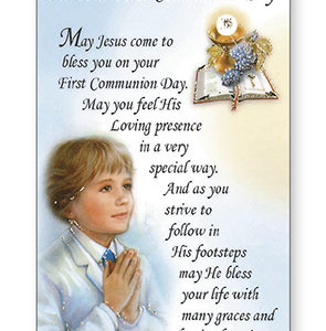 Prayer Leaflet Communion Boy