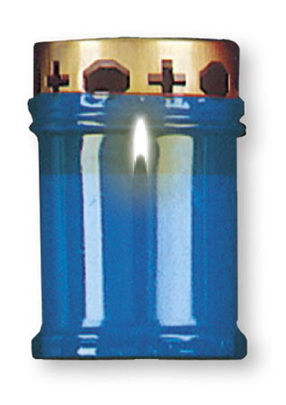 Candle - Memorial Light 4.75 inch Blue