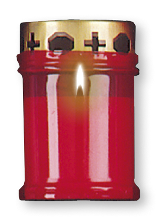 Candle - Memorial Light 4.75 inch Red