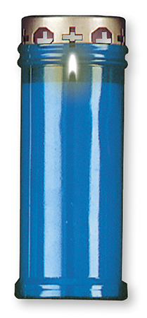 Candle - Memorial Light 6.5 inch Blue
