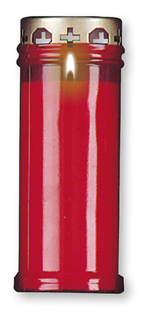 Candle - Memorial Light 6.5 inch Red