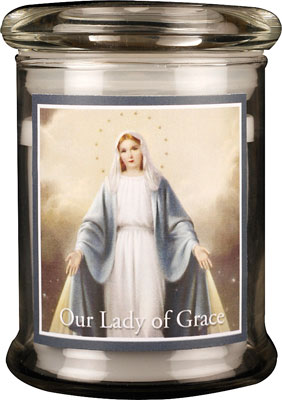 LED Glass Candle Holder Miraculous