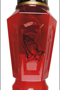Solar Power 8 inch Grave Light Praying Hands
