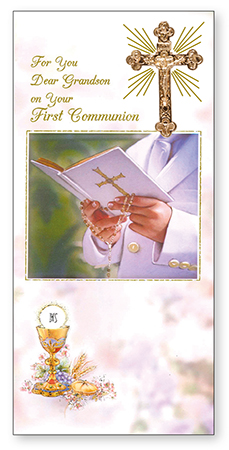Communion Boxed Card Grandson 1