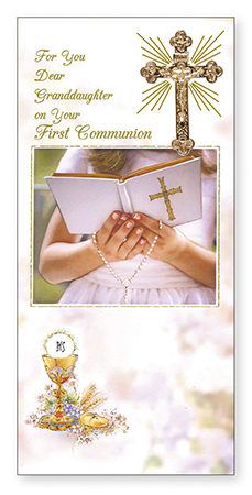 Communion Boxed Card Granddaughter