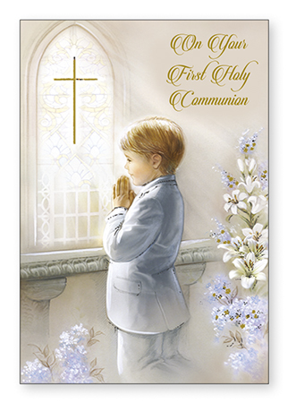 Communion Boy Card 1
