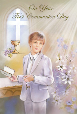 Communion Boy Card