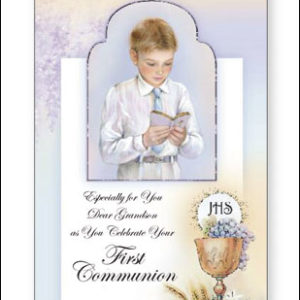 Communion Card Boy Grandson