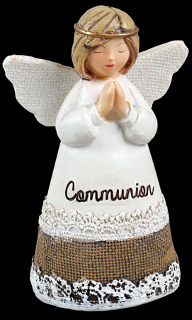 Resin 4.25 inch Message Angel Communion