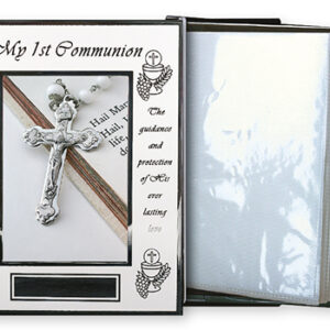 Photo Frame Album White Finish Communion