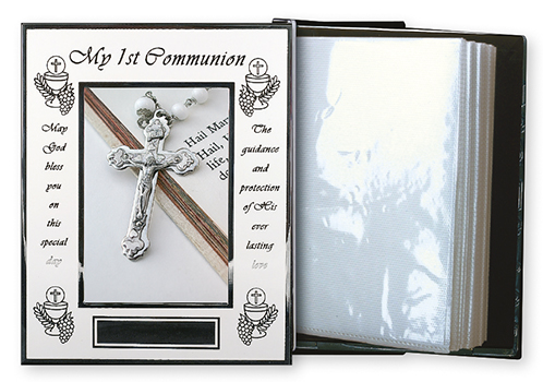 Photo Frame Album White Finish Communion 1
