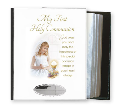 Communion Metal Photo Album Girl Saint Anthony Stores Communion