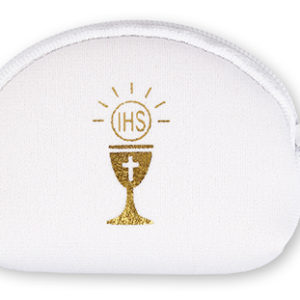 Communion Rosary Purse Foam White