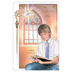 Confirmation-CardPraying-Boy