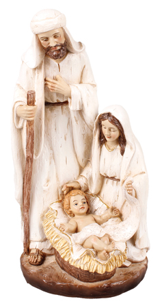 10 inch Nativity Set - Resin - Holy Family