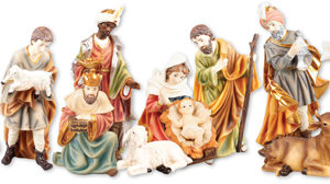 2.5 inch - 11 Figure Resin Nativity Set.