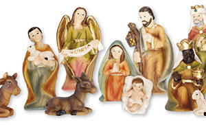 2.75 Inch - 11 Figure Resin Nativity Set